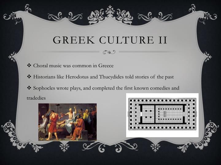 Greek culture II