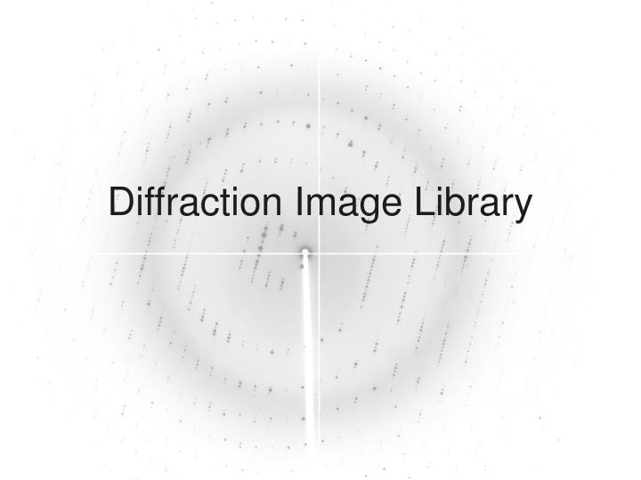 Diffraction image library