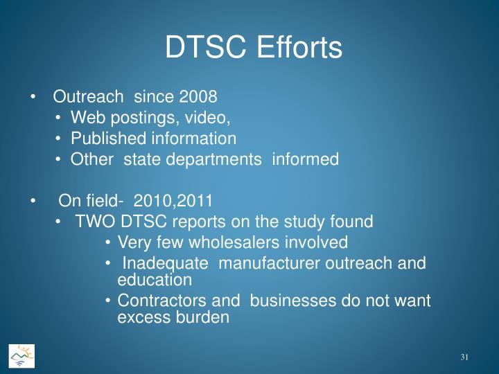 DTSC Efforts