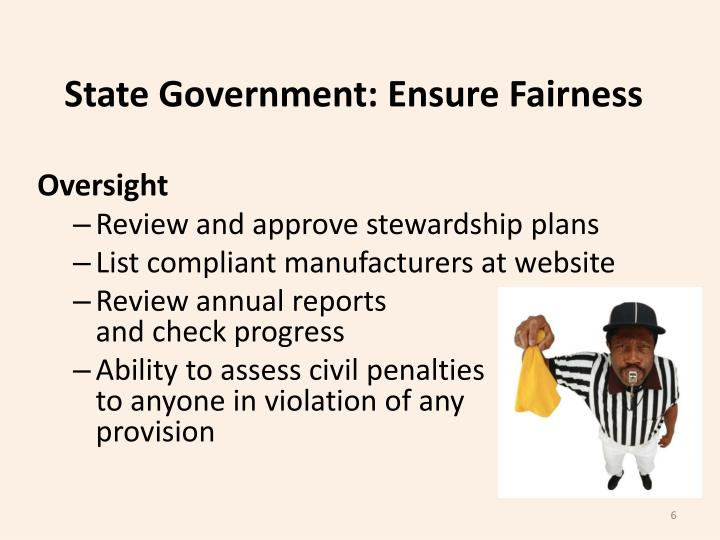 State Government: Ensure Fairness