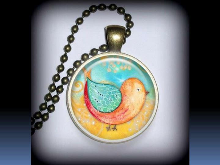 Resin filled pendants
