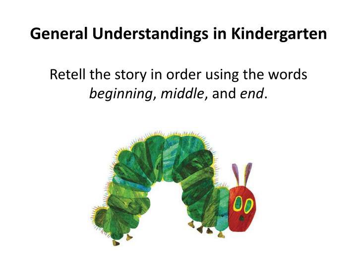 General Understandings in Kindergarten