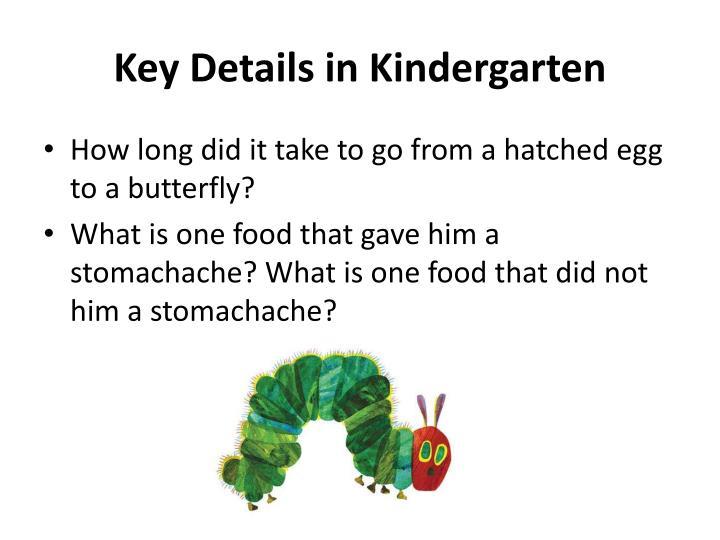 Key Details in Kindergarten