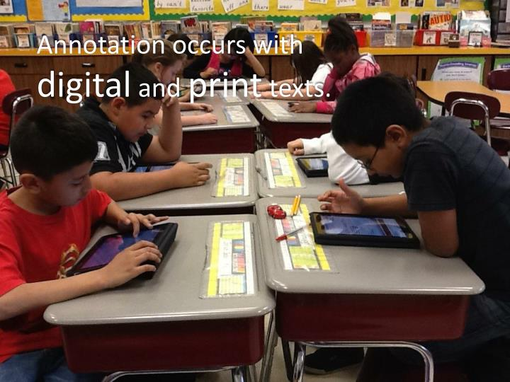 Annotation occurs with