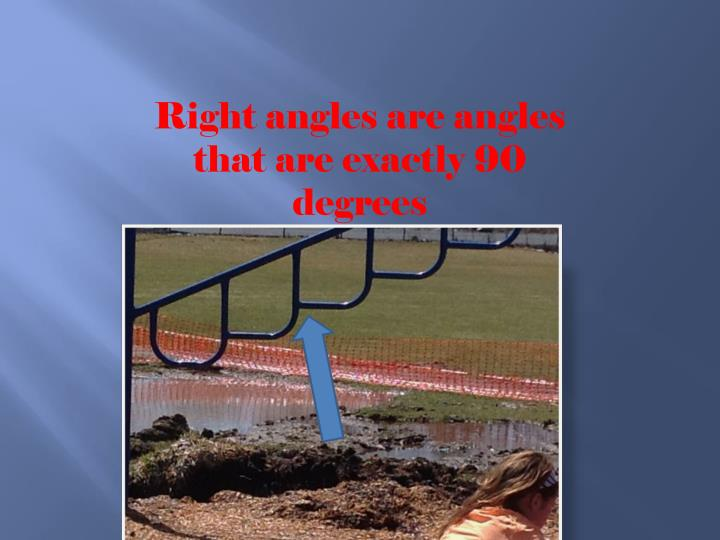 Right angles are angles that are exactly 90 degrees