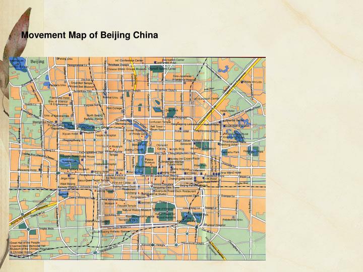 Movement Map of Beijing China
