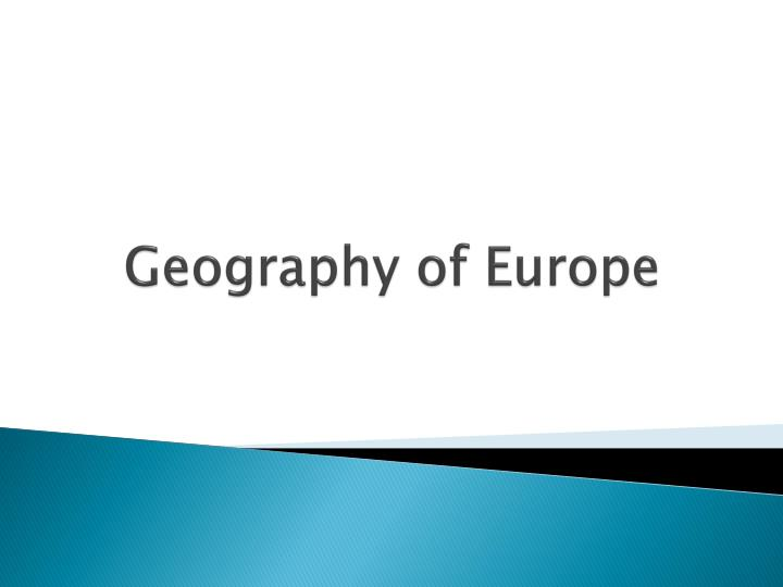 geography of europe n.