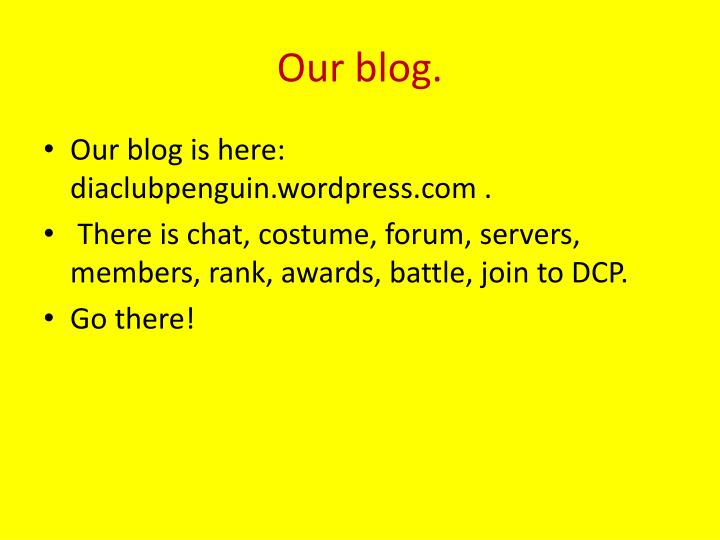 Our blog