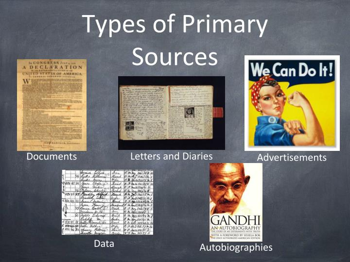 Types of Primary Sources