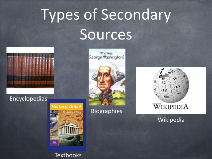 Types of Secondary Sources