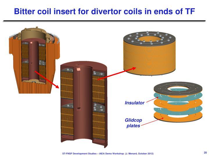 Bitter coil insert for
