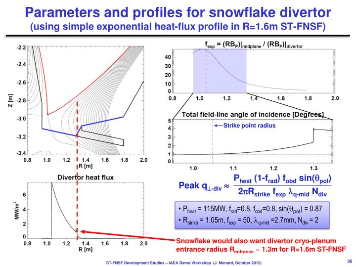 Parameters and profiles for snowflake
