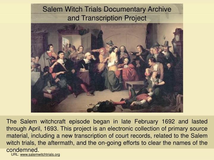 Salem Witch Trials Documentary Archive