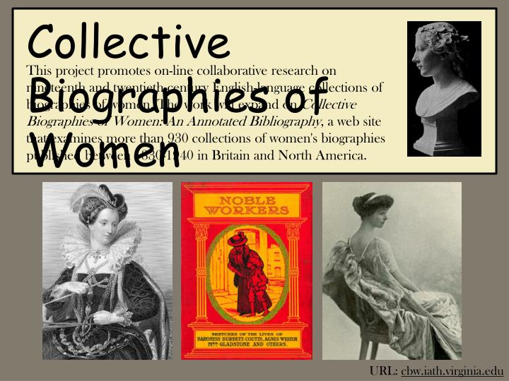 Collective Biographies of Women