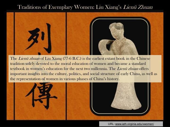 Traditions of Exemplary Women: Liu Xiang's