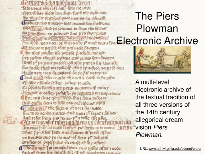The Piers Plowman Electronic Archive