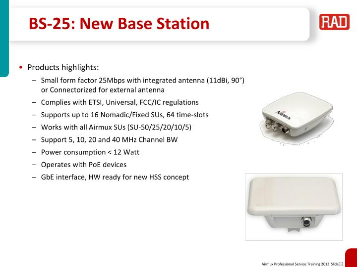 BS-25: New Base Station