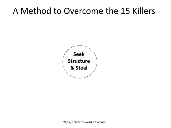 A Method to Overcome the 15 Killers