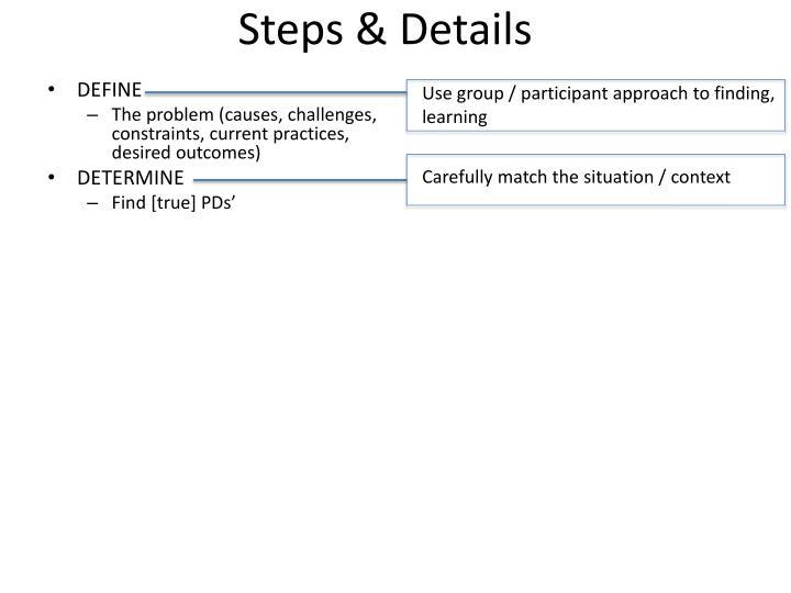 Steps & Details