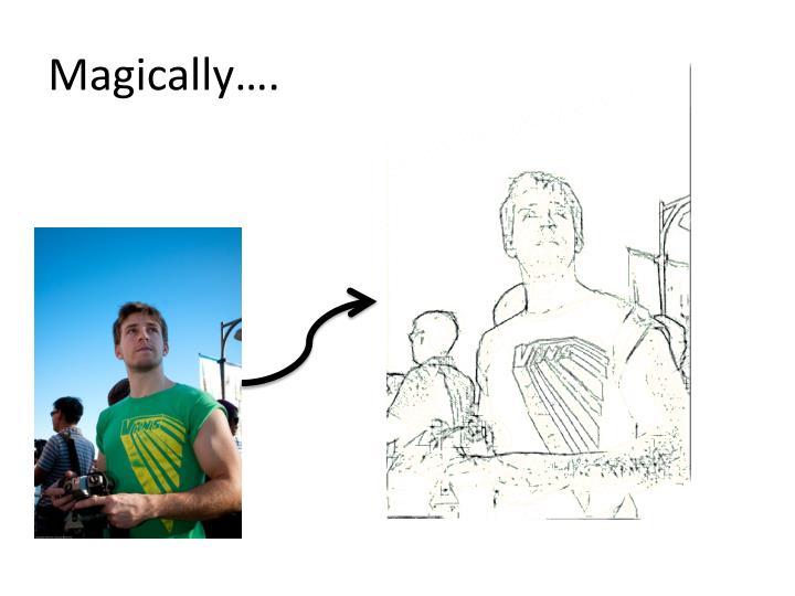 Magically….