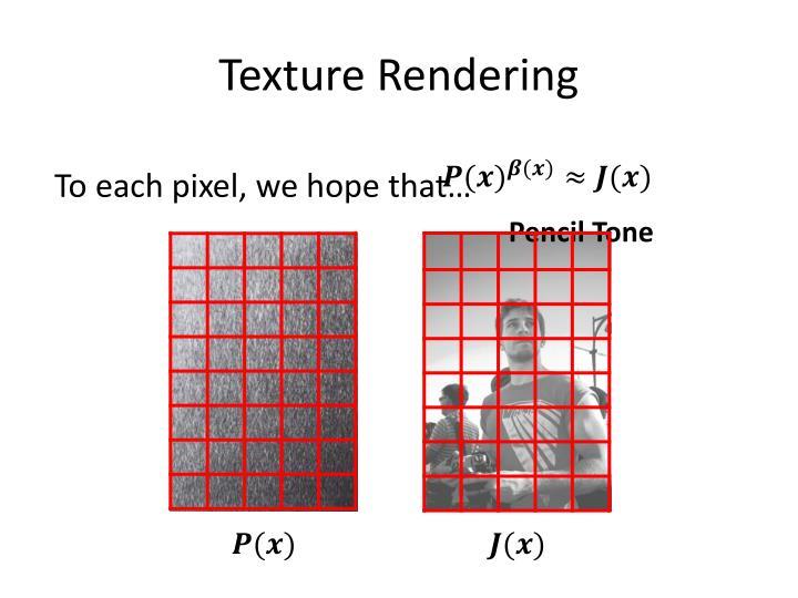 Texture Rendering