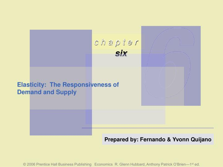 elasticity the responsiveness of demand and supply