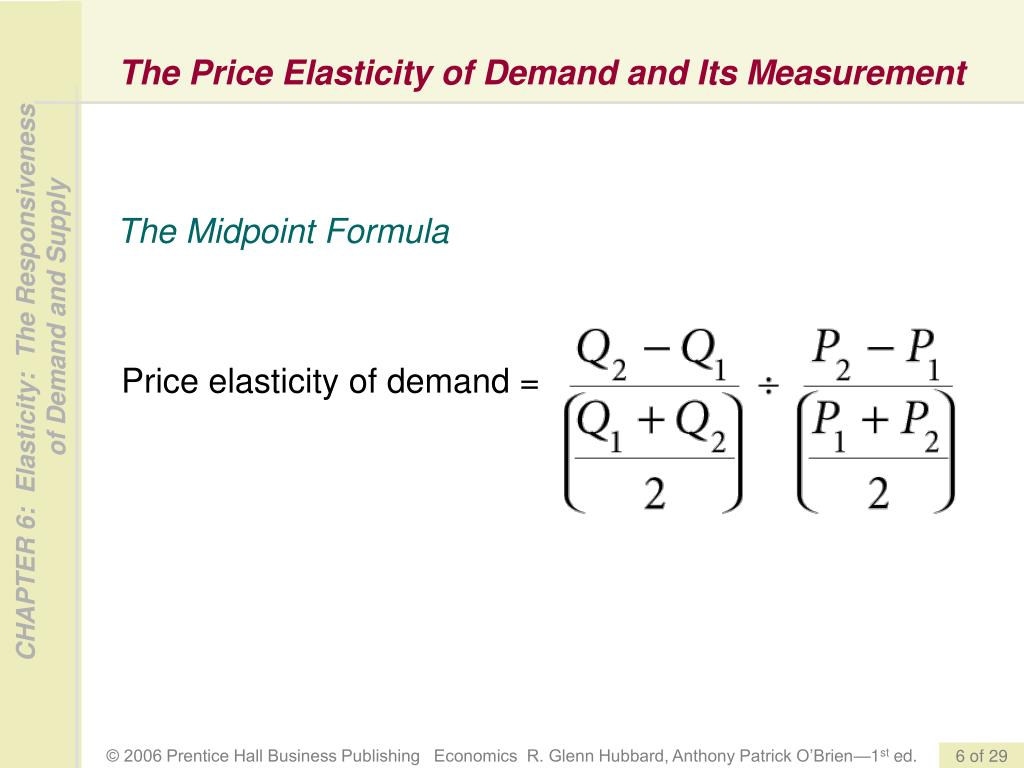 PPT - Elasticity: The Responsiveness of Demand and Supply