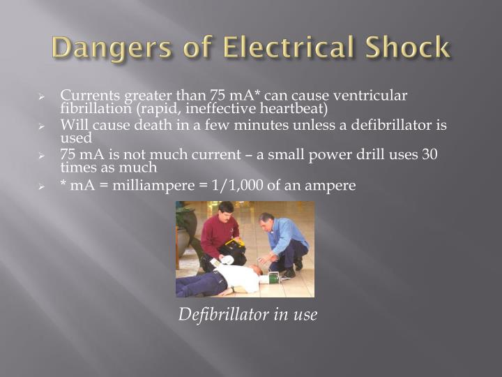 Dangers of Electrical Shock