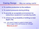 casing design why run casing cont d