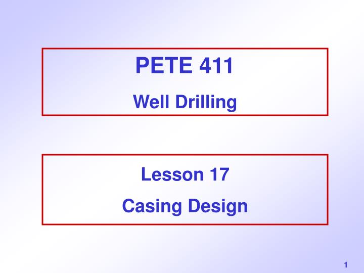 pete 411 well drilling n.