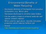 environmental benefits of water recycling