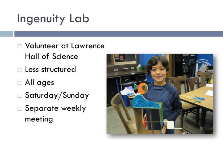 Ingenuity Lab