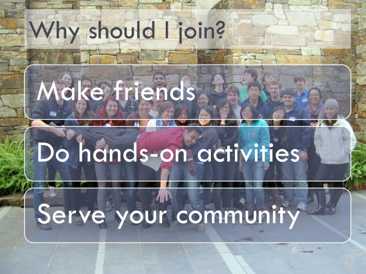 Why should I join?