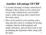another advantage of cbf