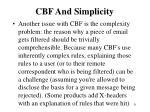 cbf and simplicity
