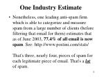 one industry estimate