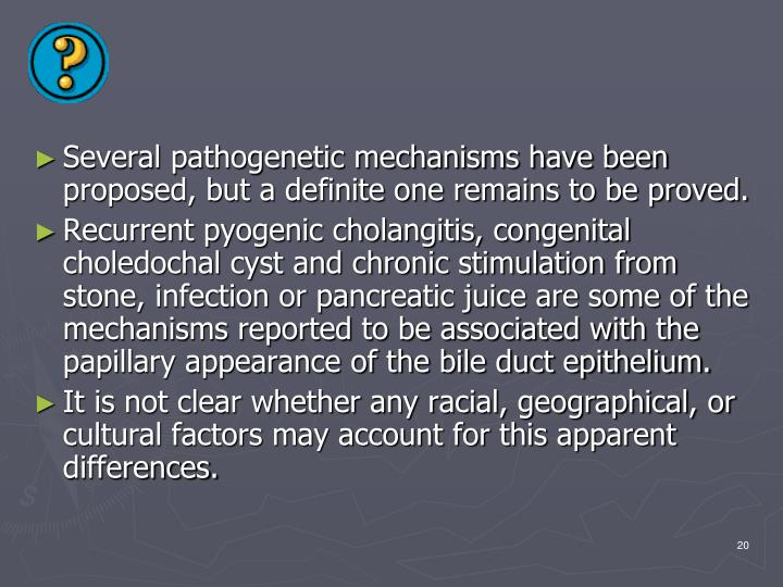 Several pathogenetic mechanisms have been proposed, but a definite one remains to be proved.