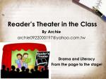 reader s theater in the class