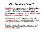 why database vault