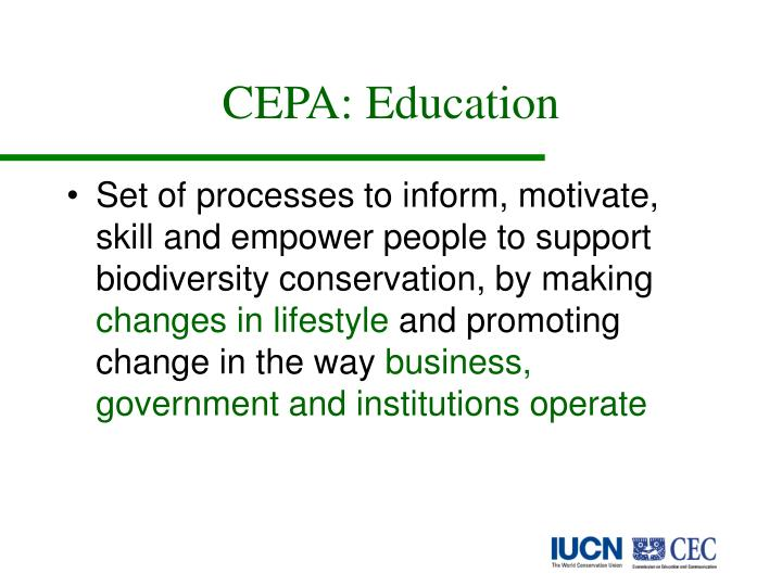 CEPA: Education
