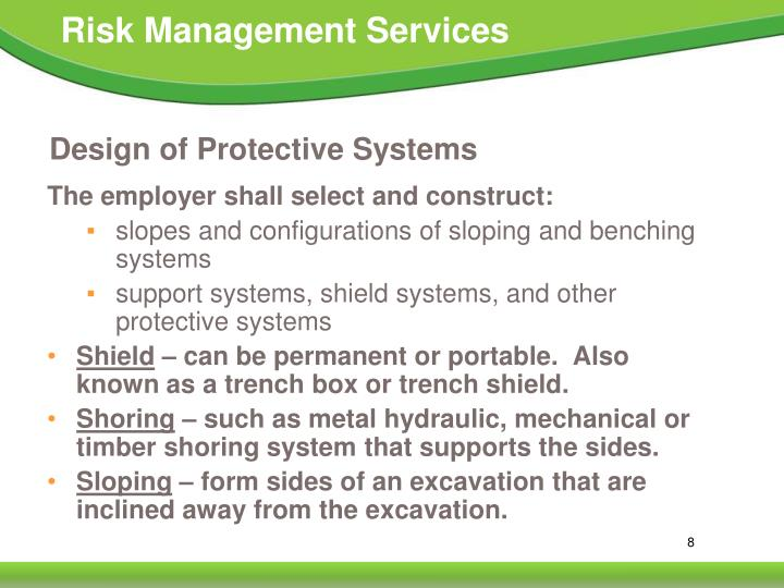 Design of Protective Systems