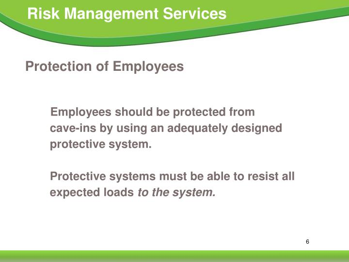 Protection of Employees