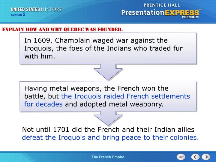 Explain how and why Quebec was founded.