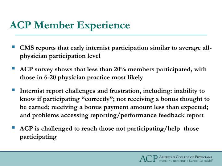 ACP Member Experience
