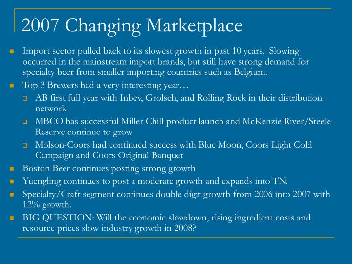 2007 Changing Marketplace