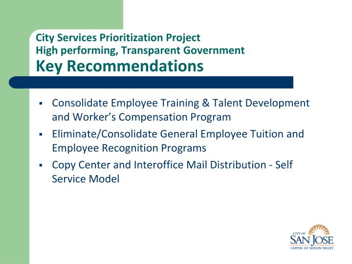 City Services Prioritization Project