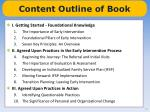 content outline of book