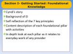 section i getting started foundational knowledge