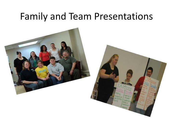 Family and Team Presentations