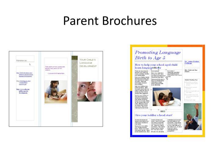 Parent Brochures